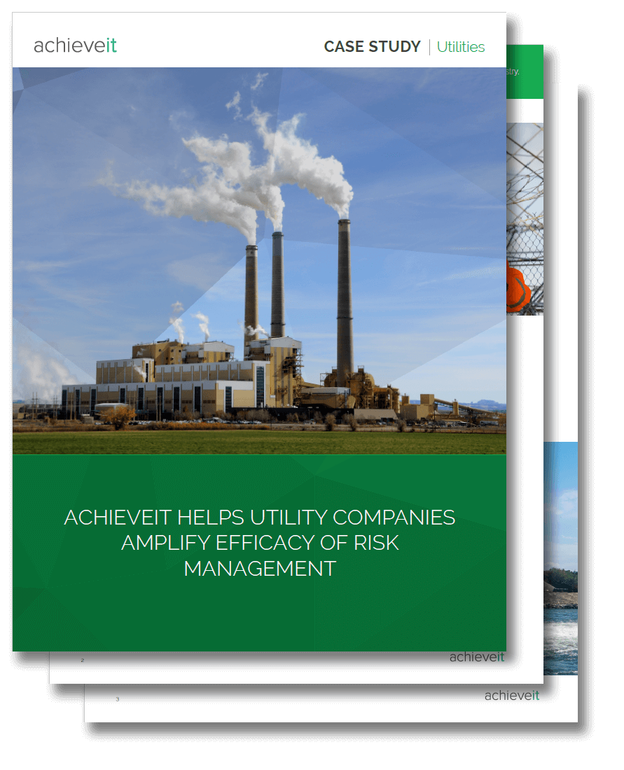 Regional utilities company implements effective risk management with AchieveIt